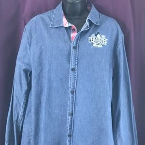 Disney Parks Long Sleeve Button Down Size M